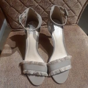 Vince Camuto Taupe Suede High Heels NWOB